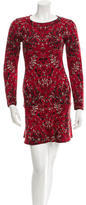 M Missoni Long Sleeve Patterned Dress