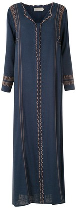 Le Soleil D'ete Nathalia embroidered maxi dress