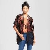 Xhilaration Women's Velvet Lace Kimono Juniors')