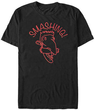Fifth Sun Wild Thornberrys Nigel Smashing Line Art Mens Crew Neck Short Sleeve Graphic T-Shirt