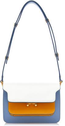 Marni Trunk Small Color-Block Leather Shoulder Bag