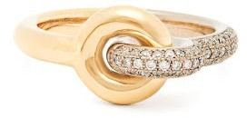Charlotte Chesnais Fine Jewellery - Maxi Twin Pave Diamond & 18kt Gold Ring - Gold