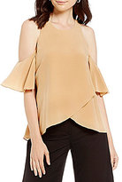 Antonio Melani Amari Silk Cold Shoulder Blouse