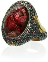 Sevan Biçakci Ruby and Diamond Ring with Butterfly Intaglio