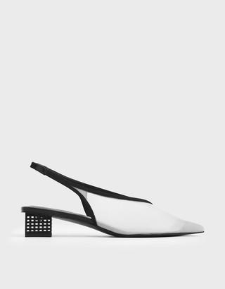 Charles & Keith Mesh Slingback Heels