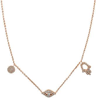 Sabrina Designs 14K Rose Gold 0.22 Ct. Tw. Diamond Evil Eye & Hamsa Necklace