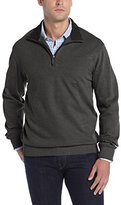 Van Heusen Men's Long Sleeve Spectator Solid 1/4 Zip Shirt