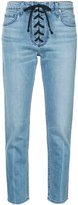 A.L.C. lace-up detail skinny jeans - women - Cotton/Spandex/Elastane - 10