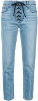 A.L.C. lace-up detail skinny jeans - women - Cotton/Spandex/Elastane - 2