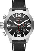 Danish Design Men's Quartz Watch with Black Dial Chronograph Display and Black Leather Strap DZ120092