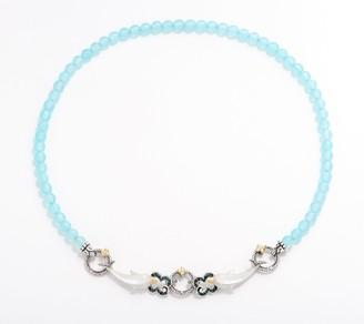 Barbara Bixby Sterling Silver 18K & Gemstone Dolphin Necklace