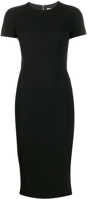 Victoria Beckham Exposed Zip Midi Dress