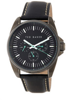 Ted Baker Men&s Quartz Leather Strap Watch