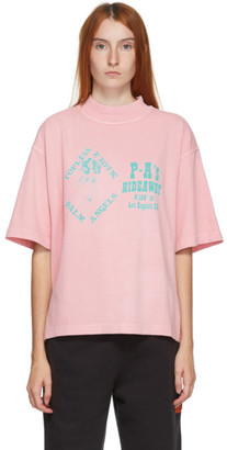 Palm Angels Pink Exotic Club Boxy T-Shirt