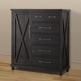 Laurèl Langsa Solid Wood Gentleman's Chest In Cafe Foundry Modern Farmhouse