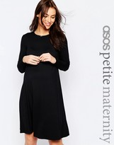 Asos PETITE Swing Dress With Long Sleeves