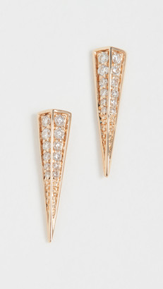 Sydney Evan 14k Gold and Diamond Spike Studs