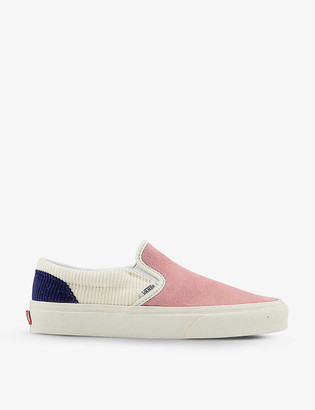 Vans Classic colour-block canvas slip-on trainers