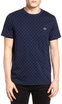 Fred Perry Men's Checkerboard Print T-Shirt