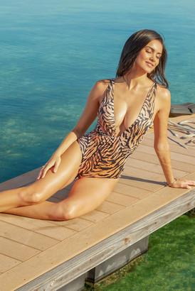 Tori Praver Andie One Piece Swimsuit Multi M
