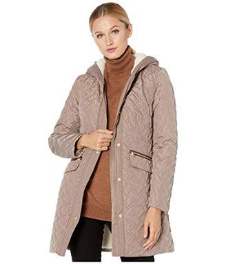 Cole Haan Women's Sherpa Lined Quilted Jacket