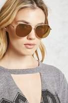 Forever 21 Flat Lens Aviator Sunglasses