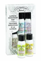 JR Watkins Skin Care Gift Set, Lotion Devotion, Hand & Body Lotion/Foot Cream, 1 Ounce (Pack of 5)
