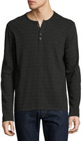 ATM Anthony Thomas Melillo Space-Dyed Henley T-Shirt, Asphalt