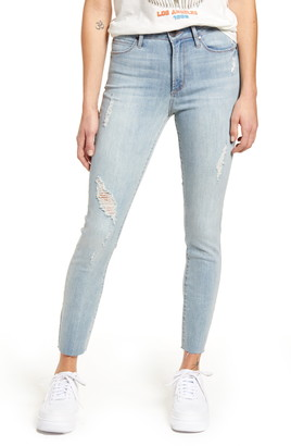 Articles of Society Heather High Waist Raw Hem Ankle Skinny Jeans