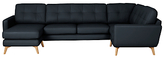 John Lewis Barbican Semi-Aniline Leather Corner End Sofa with LHF Chaise Unit