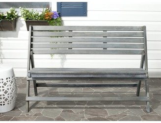 Ash Mignardise Wooden Garden Bench One Allium Way Color Gray