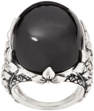 Stephen Dweck Sterling Silver and Gemstone Cocktail Ring