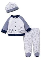 Little Me Boys' Safari Buddies Shirt, Footie Pants & Hat Set - Baby