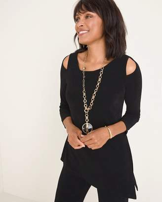 Travelers Classic Cold-Shoulder Asymmetrical Tunic