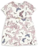Versace Baby's Allover Butterfly Print Embellished Dress