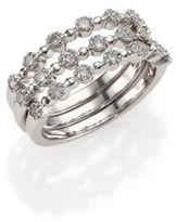Kwiat Stardust Diamond & 18K White Gold Stacking Ring Set