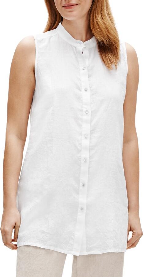 Linen top  Loose fitted linen blouse JONNA  Stonewashed 100 /% linen top  Linen blouse  Sleeveless Linen Top  Summer Top