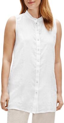 Eileen Fisher Organic Linen Tunic Top