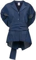 Rosie Assoulin belted oversized top - women - Silk/Cotton/Nylon/Polyester - XS