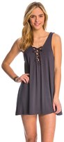 Lucy-Love Lucy Love Signature Knits Lace Me Up Shift Dress 8142365
