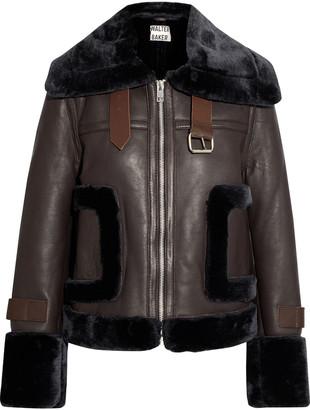 Walter Baker Lianna Faux Fur-trimmed Leather Jacket