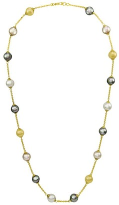 Majorica 18K Yellow Gold Pearl Illusion Necklace
