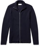 Officine Generale Gus Ribbed Merino Wool Zip-Up Sweater
