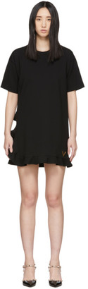 Valentino Black Stretch Jersey Dress