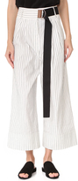 Tibi Cecil Striped Cropped Pants