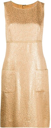 Chanel Pre Owned 1990s Metallic Sleeveless Dress