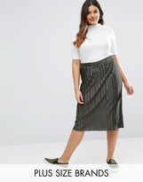 Alice & You Plisse Midi Skirt