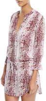Heidi Klein Monaco V-Neck Printed Cotton Tunic Coverup