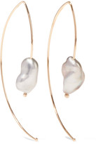 Mizuki Open Marquis 14-karat Gold Pearl Earrings
