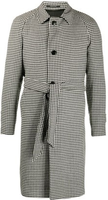 Tagliatore Houndstooth Mid-Length Coat